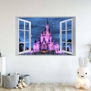 Disney Castle 3D Window Effect