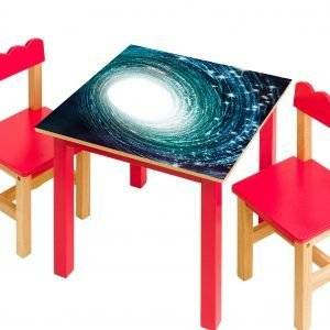 Galaxy the Stars Laminated Vinyl Cover Self-Adhesive for Desk and Tables