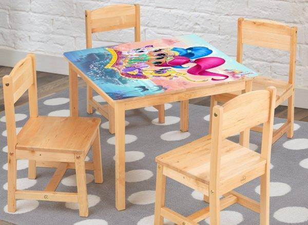 Shimer and Shine For Kids Laminated Vinyl Cover Self-Adhesive for Desk and Tables