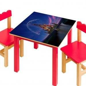 Disney Castle at Night Laminated Vinyl Cover Self-Adhesive for Desk and Tables