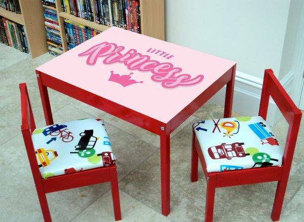 Little Princess For Kids Laminated Vinyl Cover Self-Adhesive for Desk and Tables