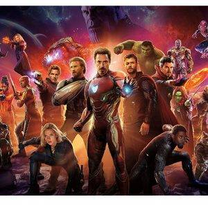 Avangers Endgame Heroes Laminated Vinyl Cover Self-Adhesive for Desk and Tables