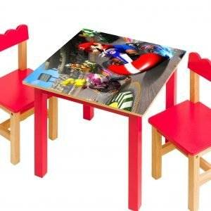 Super Mario Race Laminated Vinyl Cover Self-Adhesive for Desk and Tables