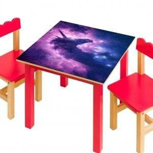 Unicorn in the Stars Laminated Vinyl Cover Self-Adhesive for Desk and Tables
