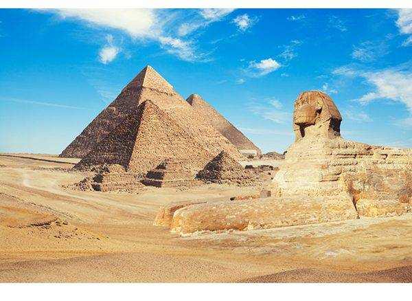 Pyramids in Egypt Laminated Vinyl Cover Self-Adhesive for Desk and Tables