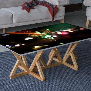 Playing The Guitar Laminated Vinyl Cover Self-Adhesive for Desk and Tables