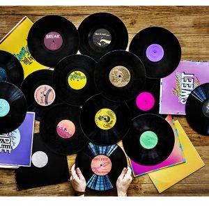 Retro Vinyl Records Music
