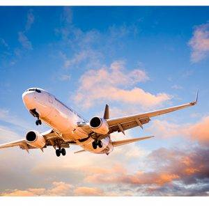 Plane in the Sky Laminated Vinyl Cover Self-Adhesive for Desk and Tables