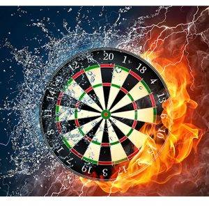 Dart Board Water & Fire Laminated Vinyl Cover Self-Adhesive for Desk and Tables