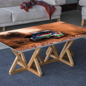Rally Dirt Car Laminated Vinyl Cover Self-Adhesive for Desk and Tables