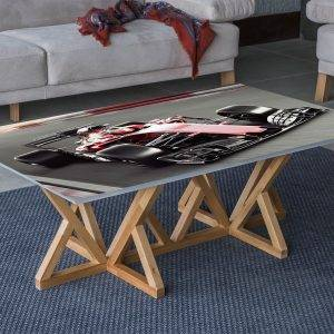 Formula Races Car Laminated Vinyl Cover Self-Adhesive for Desk and Tables