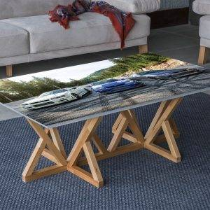 Nissan Skyline Mountains Laminated Vinyl Cover Self-Adhesive for Desk and Tables