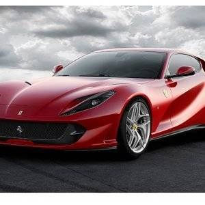 Red Ferrari Car Laminated Vinyl Cover Self-Adhesive for Desk and Tables