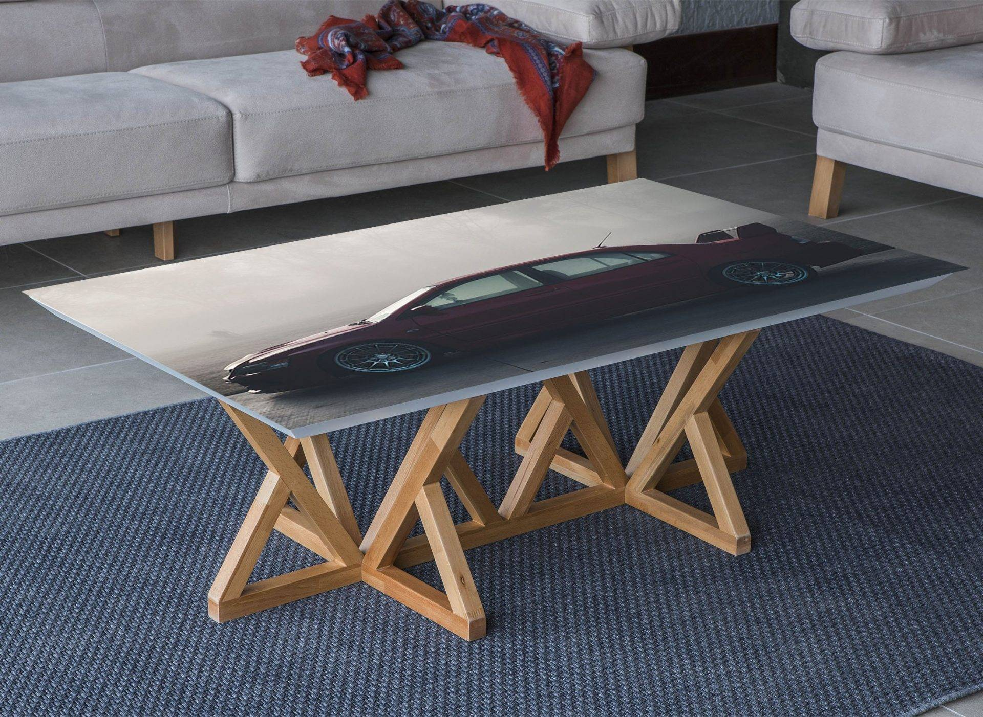 Mitsubishi Lancer Laminated Vinyl Cover Self-Adhesive for Desk and Tables
