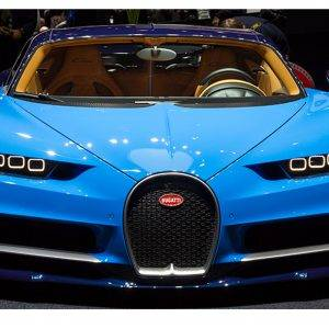 Bugatti Blue Car Laminated Vinyl Cover Self-Adhesive for Desk and Tables