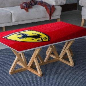Ferrari Logo Car Laminated Self Adhesive Vinyl Table Desk Art Décor Cover