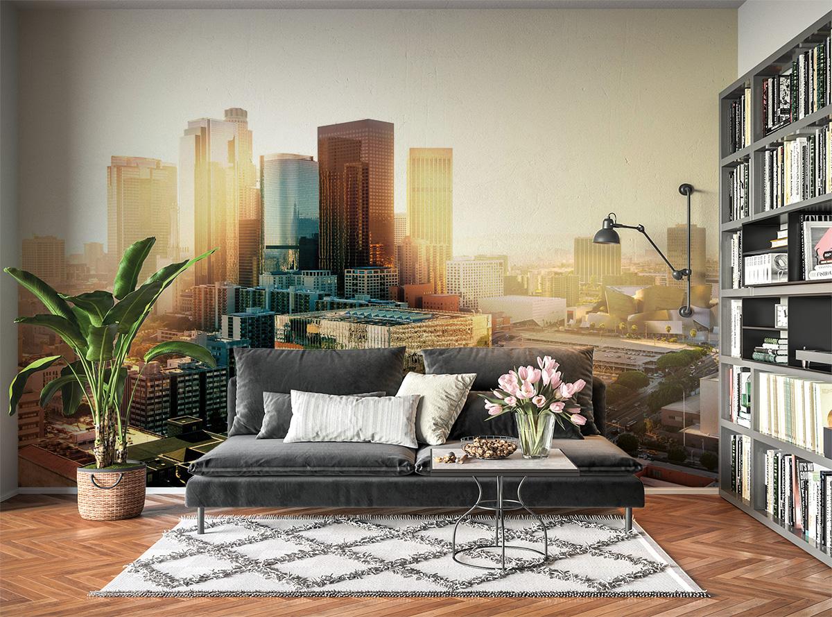 City Sunset Landscape Wall Mural