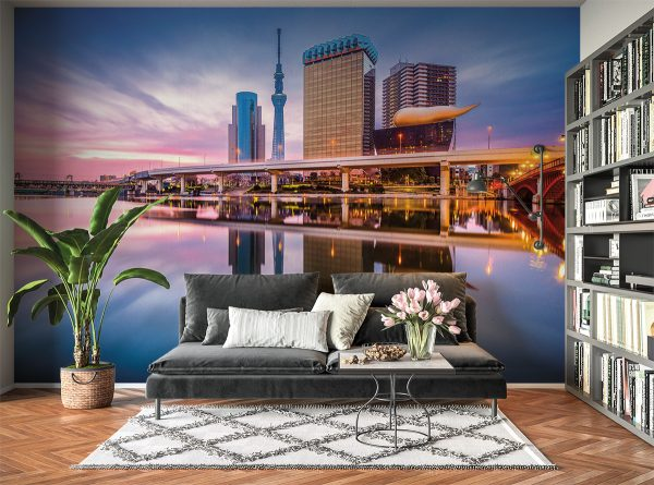Amazing City View Landscape Wall Mural Photo Wallpaper UV Print Decal Art Décor
