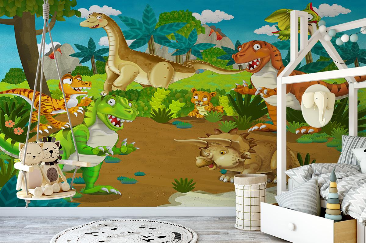 Dinosaur Life for Kids Wall Mural