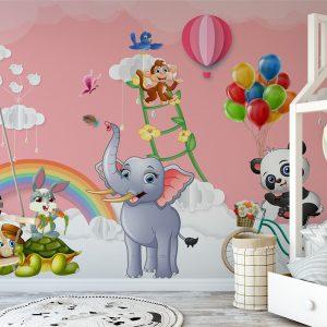 Lovely Animals For Kids Wall Mural