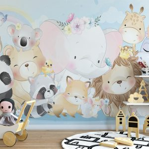 Animals Set For Kids Wall Mural