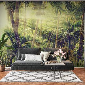 African Jungle & Sun Wall Mural