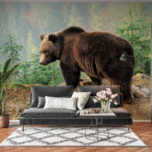 Brown Bear Nature View Wall Mural
