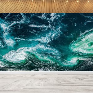 Water in Ocean Wavy Wall Mural
