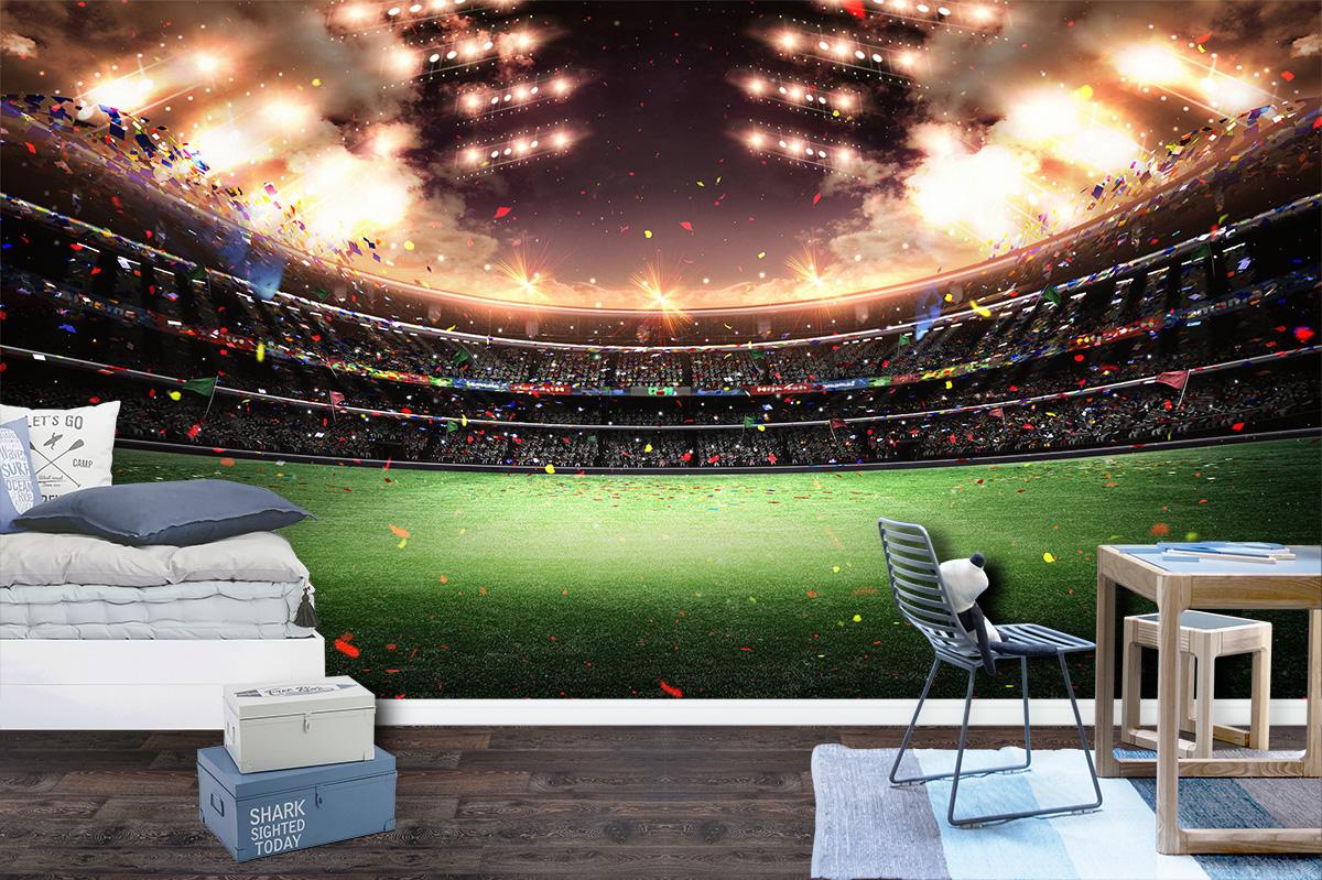 Football Stadium Landscape Wall Mural Photo Wallpaper UV Print Decal Art Décor