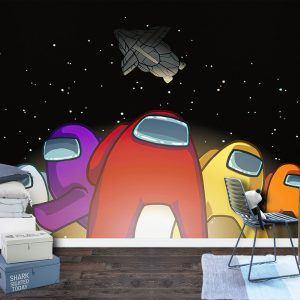 Among Us in the Space Wall Mural Photo Wallpaper UV Print Decal Art Décor