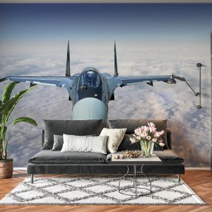 Airplane Fighter in the Sky Wall Mural Photo Wallpaper UV Print Decal Art Décor