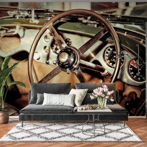 Vintage Car Dashboard Wall Mural Photo Wallpaper UV Print Decal Art Décor