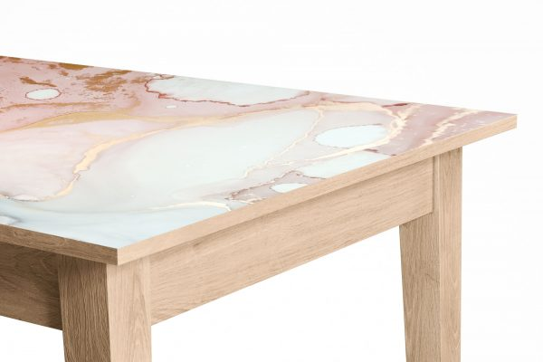 Pink Gold Marble Laminated Self Adhesive Vinyl Table Desk Art Décor Cover