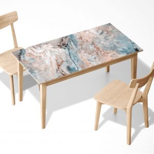 Marble & Inclusions Laminated Self Adhesive Vinyl Table Desk Art Décor Cover