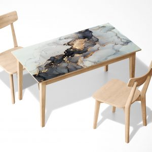 Abstract Art Marble Laminated Self Adhesive Vinyl Table Desk Art Décor Cover