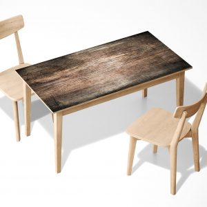 Dark Wood Texture Laminated Self Adhesive Vinyl Table Desk Art Décor Cover