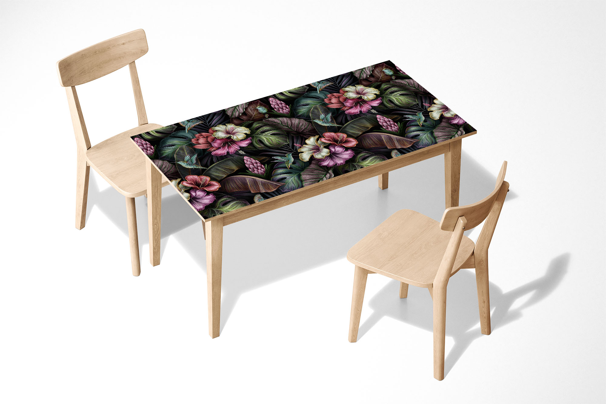 Amazing Flower Pattern Laminated Self Adhesive Vinyl Table Desk Art Décor Cover