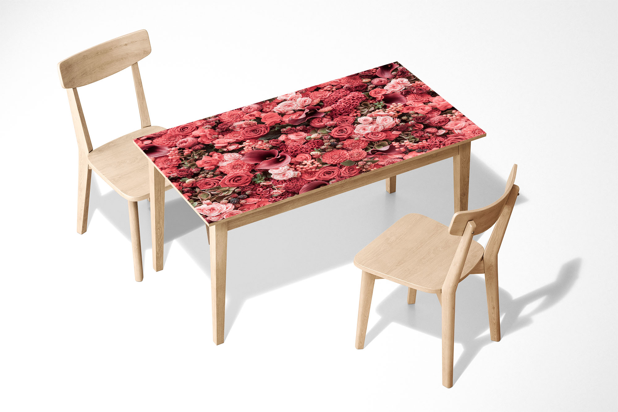 Background of flowers Laminated Self Adhesive Vinyl Table Desk Art Décor Cover