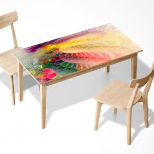 Watercolour pattern Laminated Self Adhesive Vinyl Table Desk Art Décor Cover