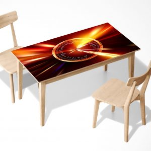Speedometer in Fire Laminated Self Adhesive Vinyl Table Desk Art Décor Cover