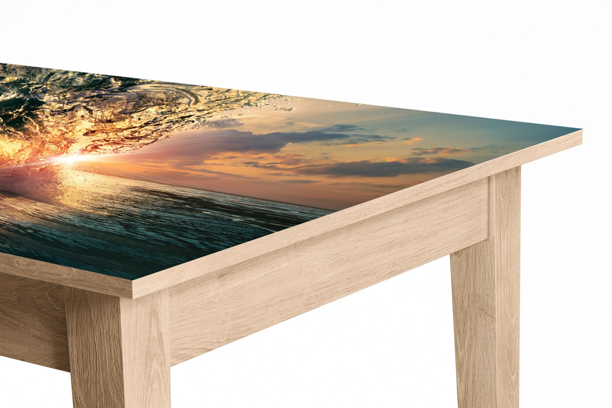 Ocean Wave in the Sun Laminated Self Adhesive Vinyl Table Desk Art Décor Cover
