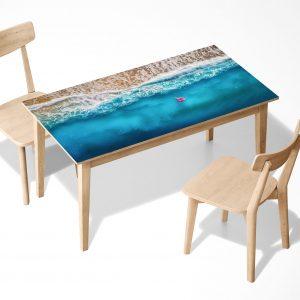 Relax on the Beach Laminated Self Adhesive Vinyl Table Desk Art Décor Cover