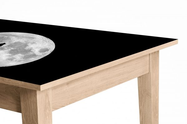 Wolf Howls to the Moon Laminated Self Adhesive Vinyl Table Desk Art Décor Cover