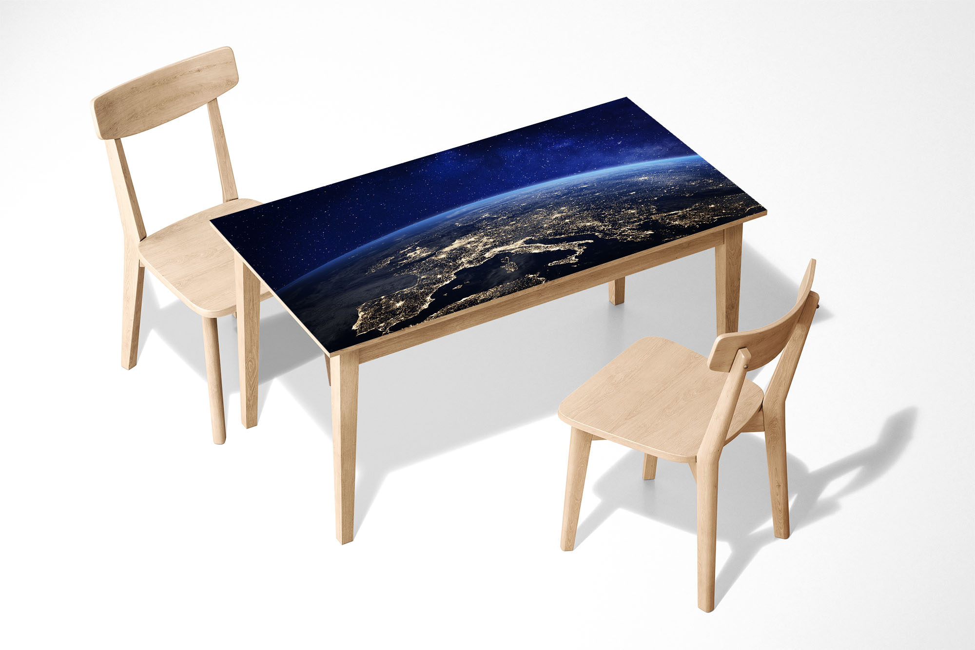 View Europe from Space Laminated Self Adhesive Vinyl Table Desk Art Décor Cover