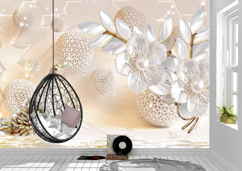 3D Abstraction Flower Wall Mural Photo Wallpaper UV Print Decal Art Décor