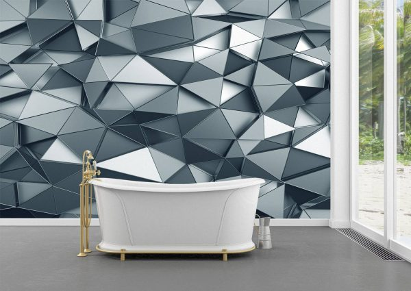 Abstract 3D metal surface Wall Mural Photo Wallpaper UV Print Decal Art Décor