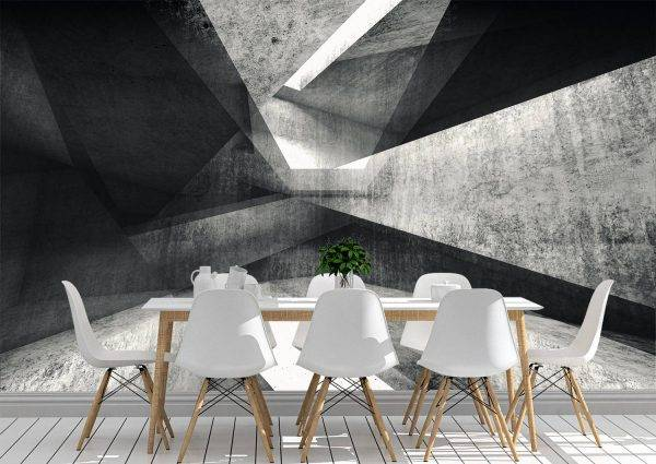 Intersected concrete corners Wall Mural Photo Wallpaper UV Print Decal Art Décor
