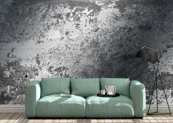 Abstract Cement Effect Wall Mural Photo Wallpaper UV Print Decal Art Décor