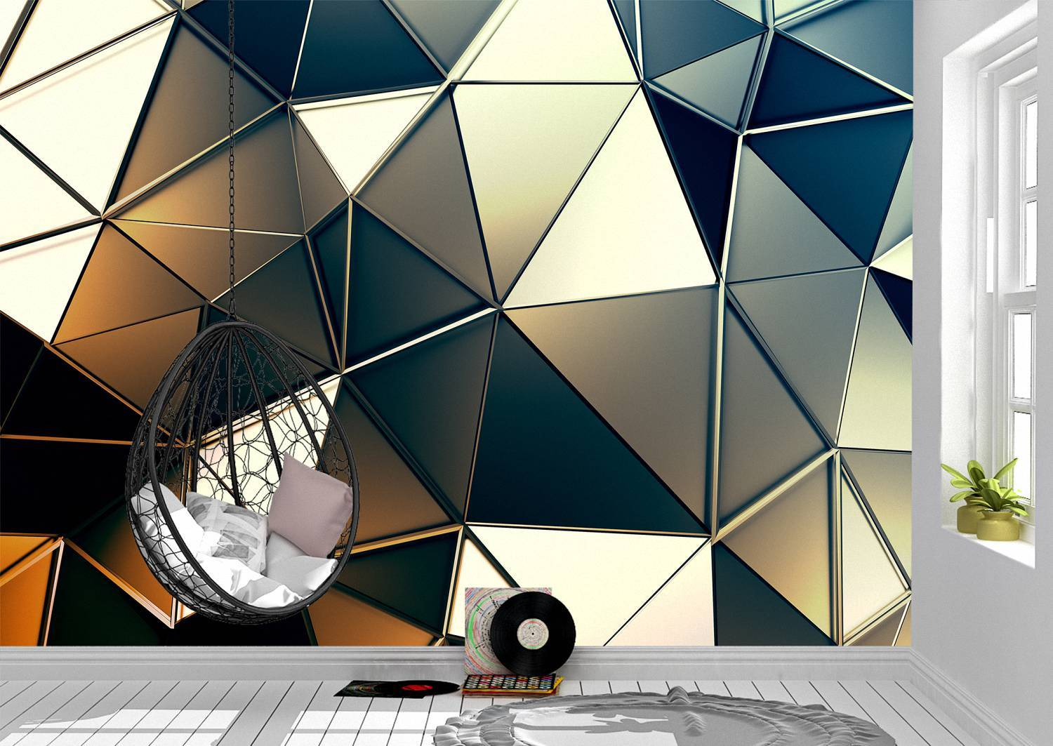 Triangles Abstract Wall Mural Photo Wallpaper