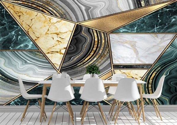 Triangle of Marble Wall Mural Photo Wallpaper